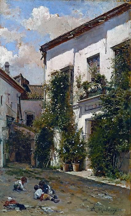 Madrazo y Garreta, Raimundo de -- El patio de San Miguel, en Sevilla. Part 5 Prado Museum