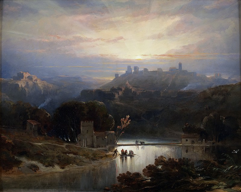 Roberts, David -- El Castillo de Alcalá de Guadaíra. Part 5 Prado Museum