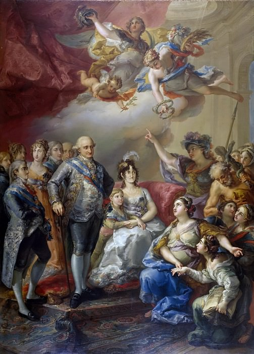 López Portaña, Vicente -- Carlos IV y su familia homenajeados por la Universidad de Valencia. Part 5 Prado Museum
