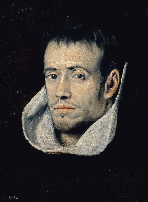 El Greco (Seguidor de) -- Fraile trinitario. Part 5 Prado Museum