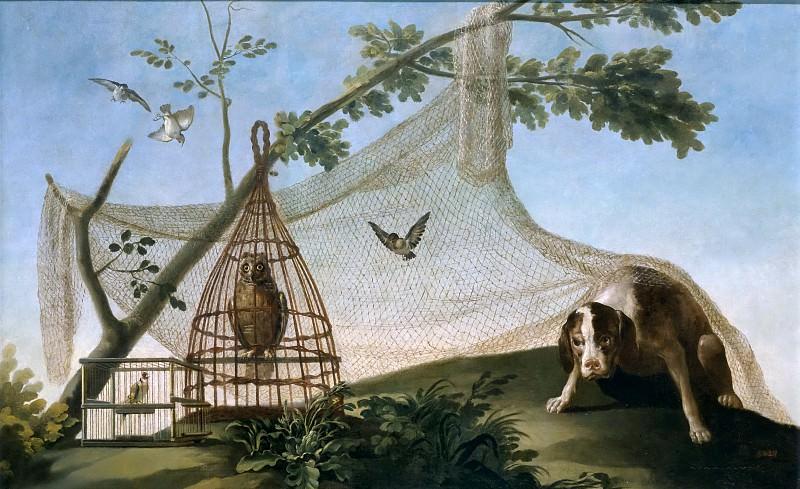 Goya y Lucientes, Francisco de -- Caza con reclamo. Part 5 Prado Museum