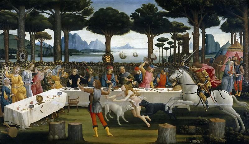 Botticelli, Sandro -- La historia de Nastagio degli Onesti (III). Part 5 Prado Museum