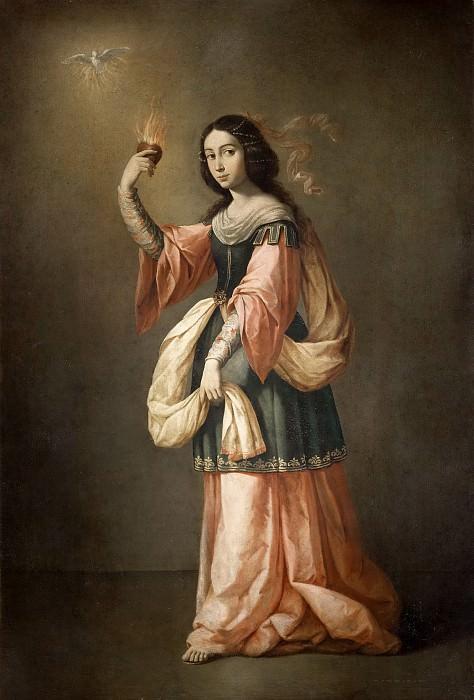 Zurbarán, Francisco de -- Alegoría de la Caridad. Part 5 Prado Museum