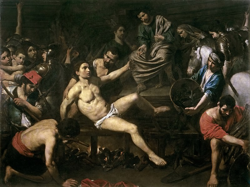 Boulogne, Valentin de -- El martirio de San Lorenzo. Part 5 Prado Museum