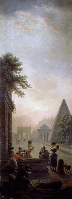 Vernet, Claude Joseph -- Paisaje romano a la puesta del sol. Part 5 Prado Museum
