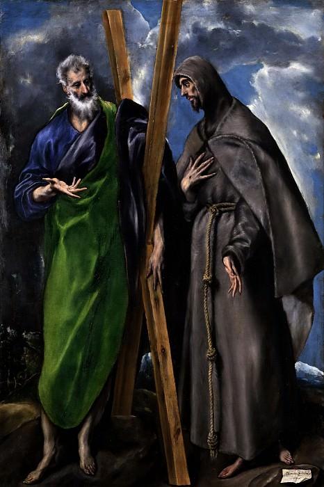 Греко, эль -- Святые Андрей и Франциск. часть 5 Музей Прадо