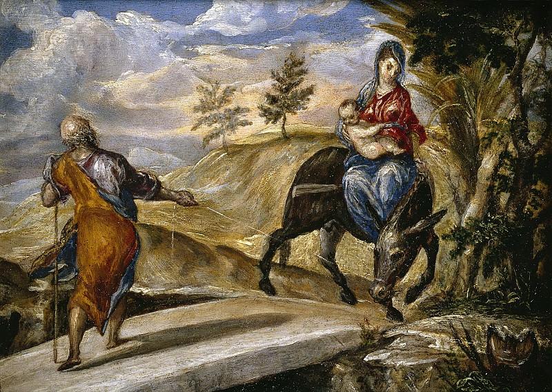 El Greco -- La Huida a Egipto. Part 5 Prado Museum