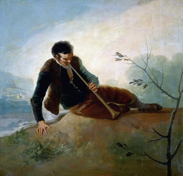 Гойя и Лусиентес, Франсиско де -- Пастух с флейтой. часть 5 Музей Прадо