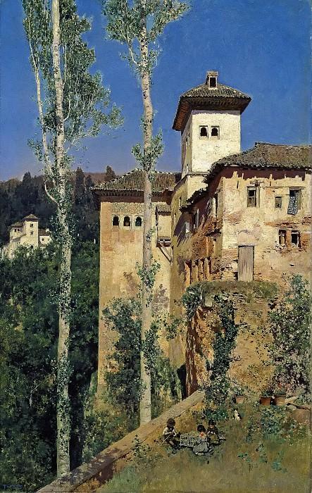 Rico y Ortega, Martín -- La Torre de las Damas en la Alhambra de Granada. Part 5 Prado Museum