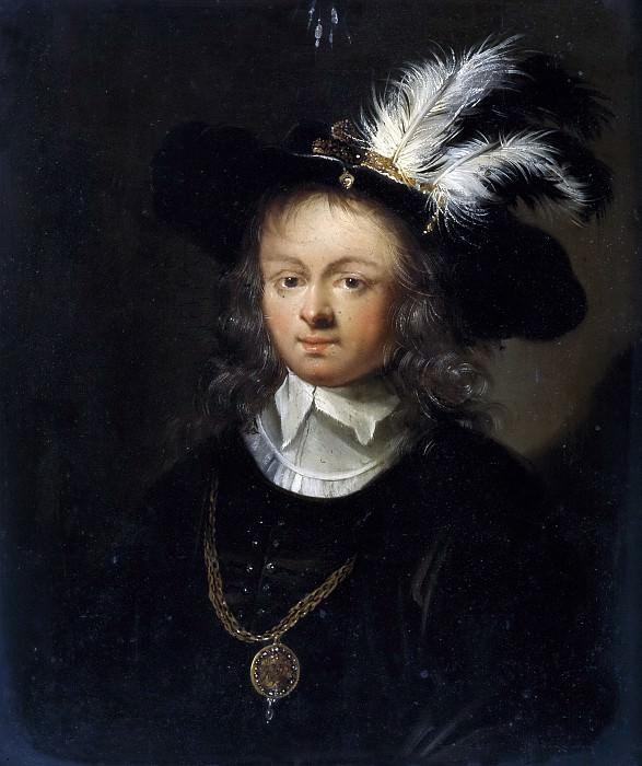 Верельст (приписывается), Питер Херманс -- Девушка в шляпе с перьями. часть 5 Музей Прадо