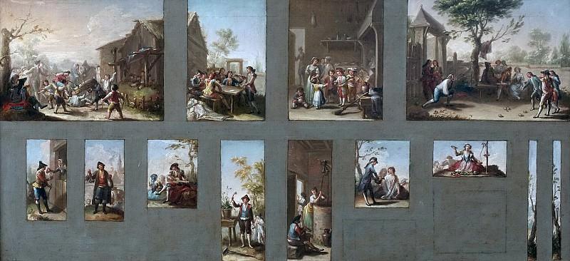 Bayeu y Subías, Francisco -- Trece bocetos para cartones de tapices. Part 5 Prado Museum