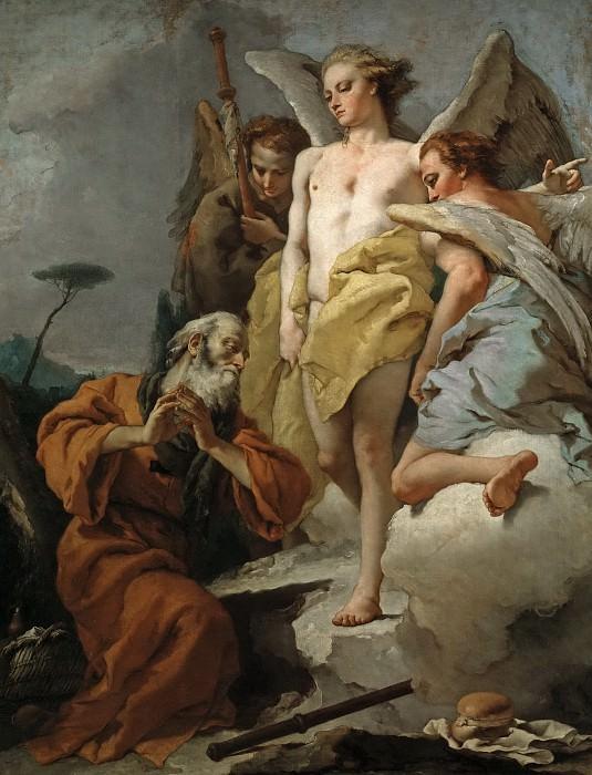 Abraham y los tres ángeles. Giovanni Battista Tiepolo