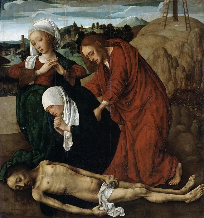 Maestro de la Virgo inter Virgines -- Lamentación sobre el cuerpo de Cristo muerto. Part 5 Prado Museum