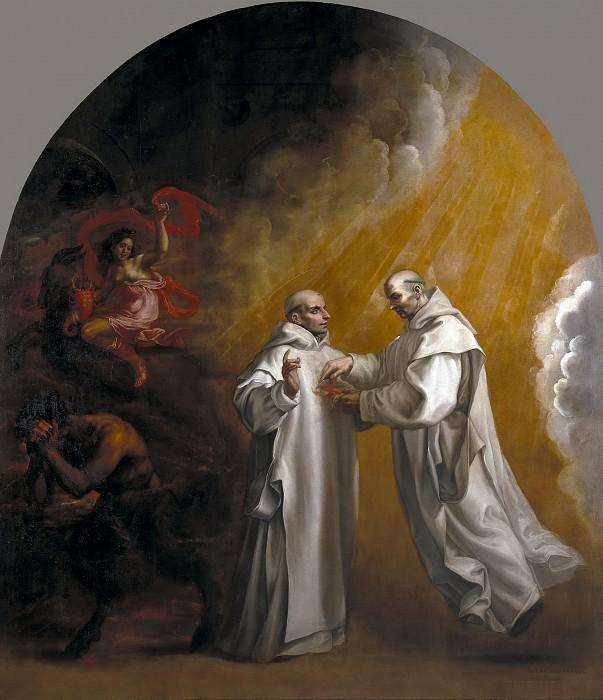 Carducho, Vicente -- La aparición de Basilio de Borgoña a su discípulo Hugo de Lincoln. Part 5 Prado Museum