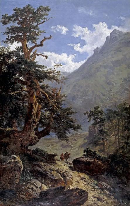 Haes, Carlos de -- La vereda. Part 5 Prado Museum
