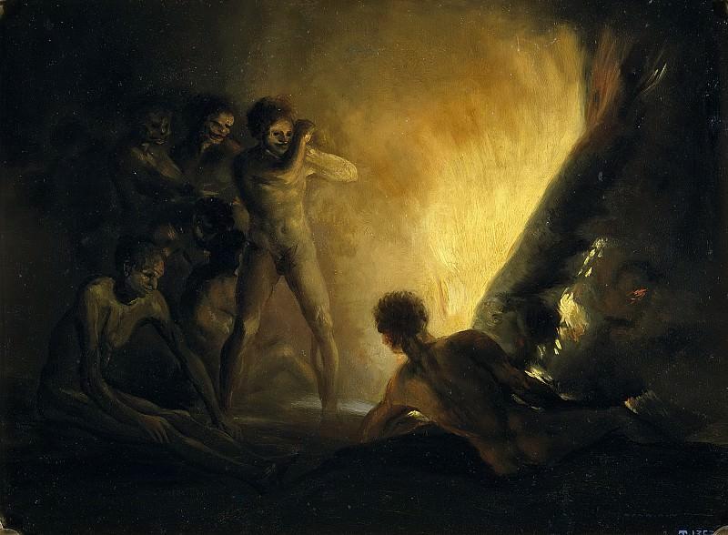 Anónimo (Seguidor de Goya y Lucientes, Francisco de) -- La hoguera. Part 5 Prado Museum