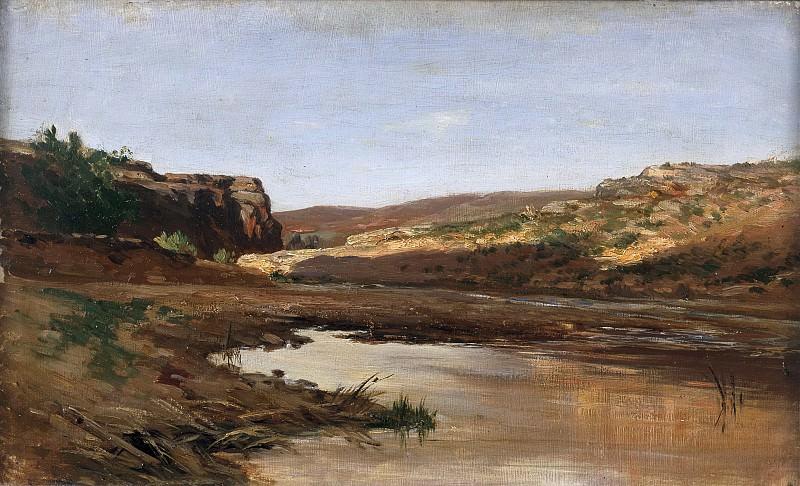 Haes, Carlos de -- Charca de los alrededores de Jaraba de Aragón. Part 5 Prado Museum