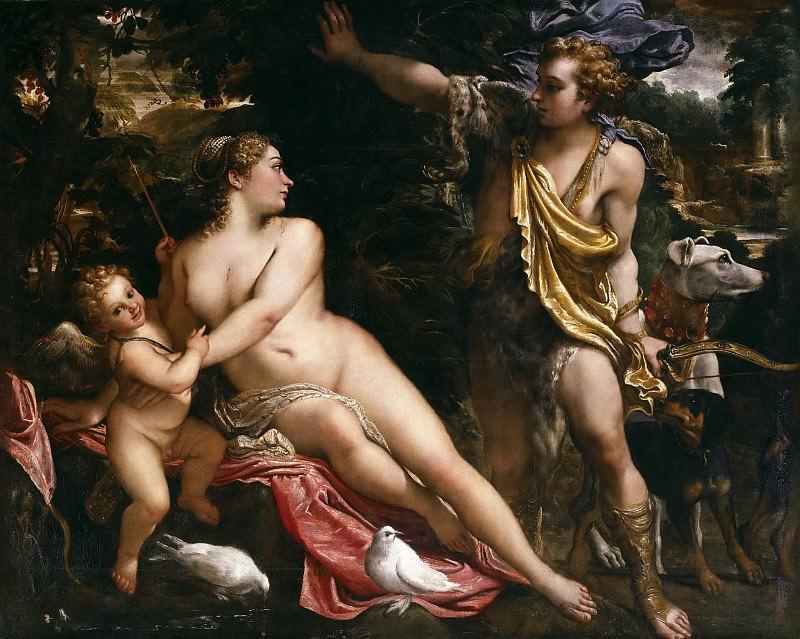 Carracci, Annibale -- Venus, Adonis y Cupido. Part 5 Prado Museum