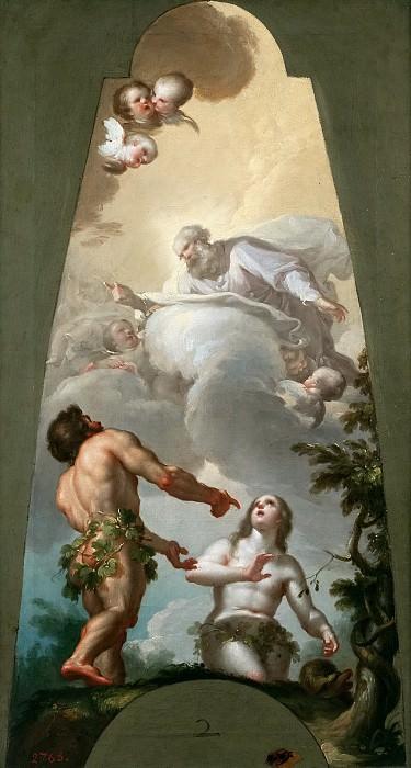 Bayeu y Subías, Francisco -- Adán y Eva reconvenidos por su pecado. Part 5 Prado Museum