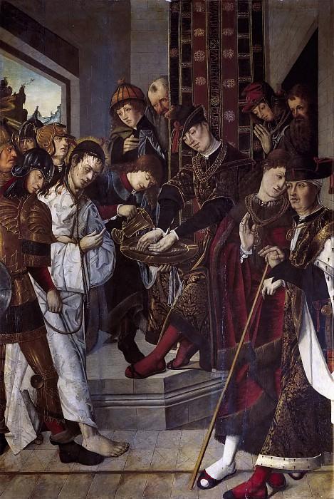 Osona, Francisco de; Osona, Rodrigo de -- Pilatos lavándose las manos. Part 5 Prado Museum