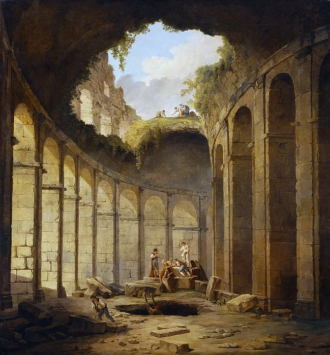 Robert, Hubert -- El Coliseo de Roma. Part 5 Prado Museum