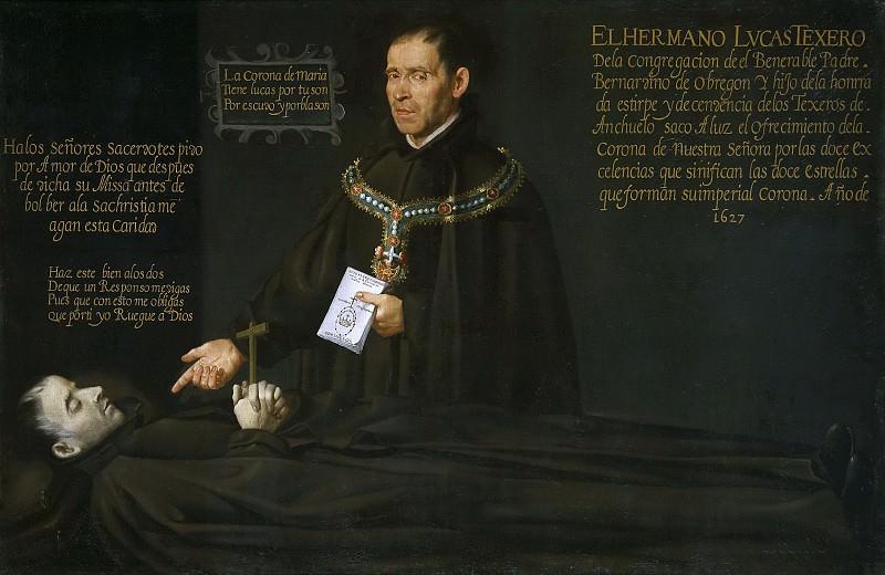 Anónimo -- El hermano Lucas Texero ante el cadáver del Venerable Bernardino de Obregón. Part 5 Prado Museum