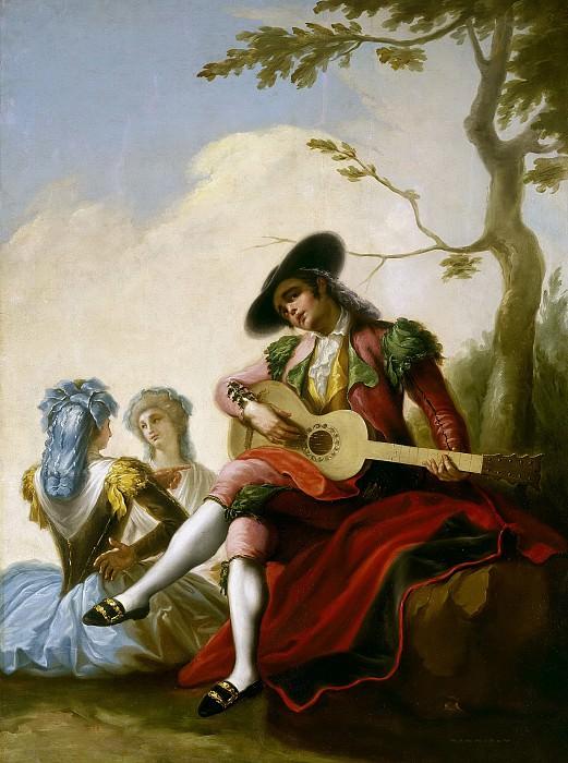 Bayeu y Subías, Ramón -- El majo de la guitarra. Part 5 Prado Museum