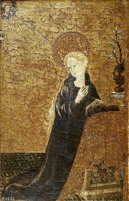 Хайме Матеу(приписывается) -- Мадогга благовещения. часть 5 Музей Прадо
