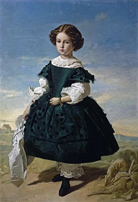 Domínguez Bécquer, Valeriano -- Retrato de niña. Part 5 Prado Museum