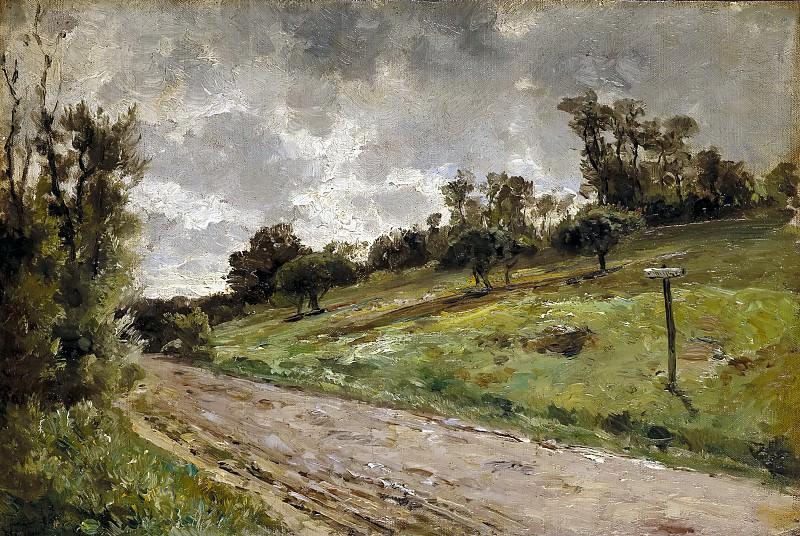 Haes, Carlos de -- Camino de las cercanías de Villerville (Normandía). Part 5 Prado Museum