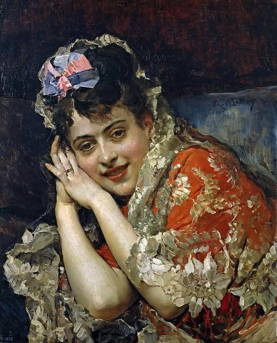 Madrazo y Garreta, Raimundo de -- Aline Masson, con mantilla blanca. Part 5 Prado Museum
