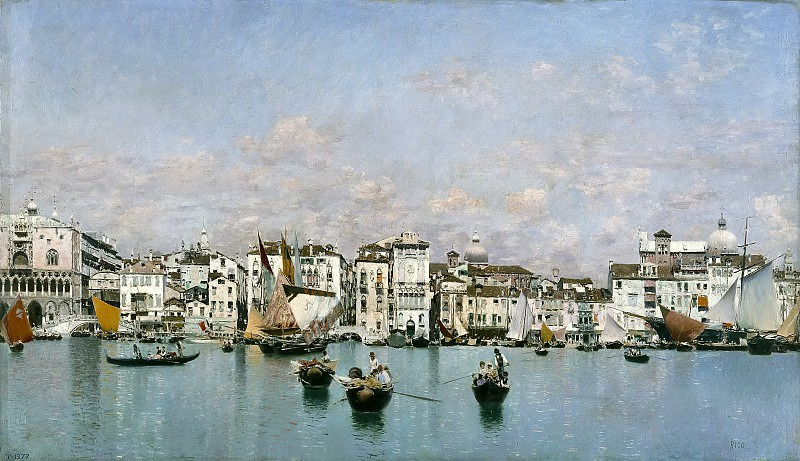 Rico y Ortega, Martín -- La riva degli Schiavoni en Venecia. Part 5 Prado Museum