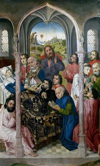 Maestro de Sopetrán -- Tránsito de la Virgen. Part 5 Prado Museum