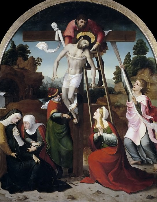 Correa de Vivar, Juan -- Descendimiento de la Cruz. Part 5 Prado Museum