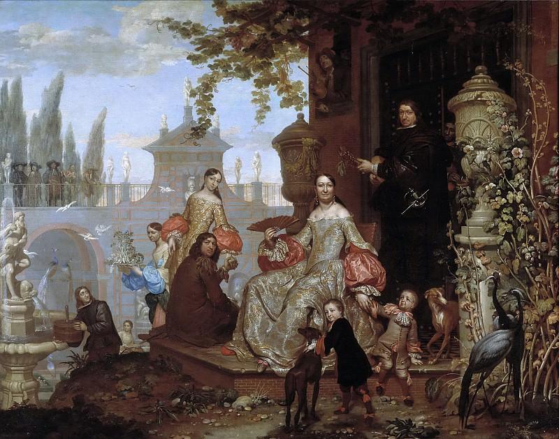 Kessel el Joven, Jan van -- Familia en un jardín. Part 5 Prado Museum