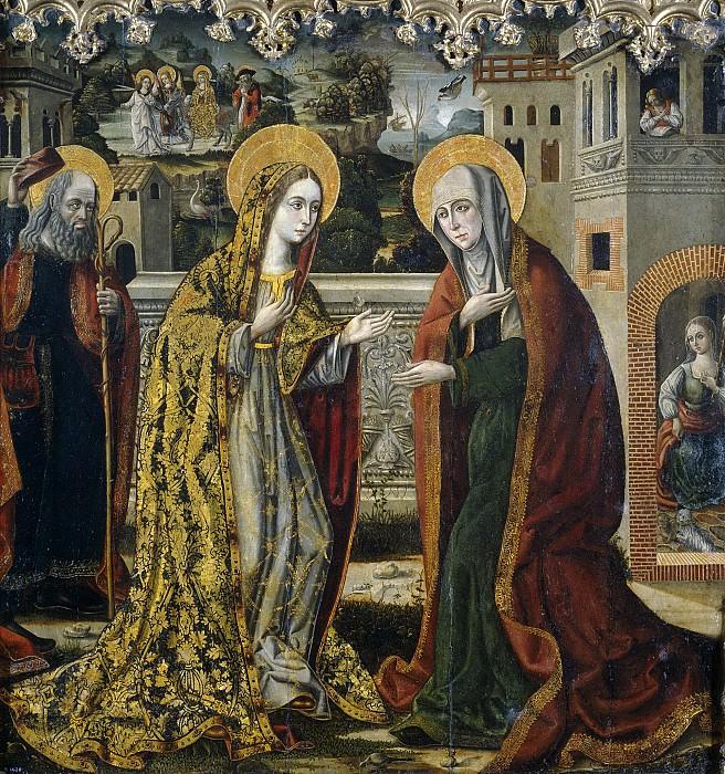 Maestro de Perea -- La Visitación. Part 5 Prado Museum