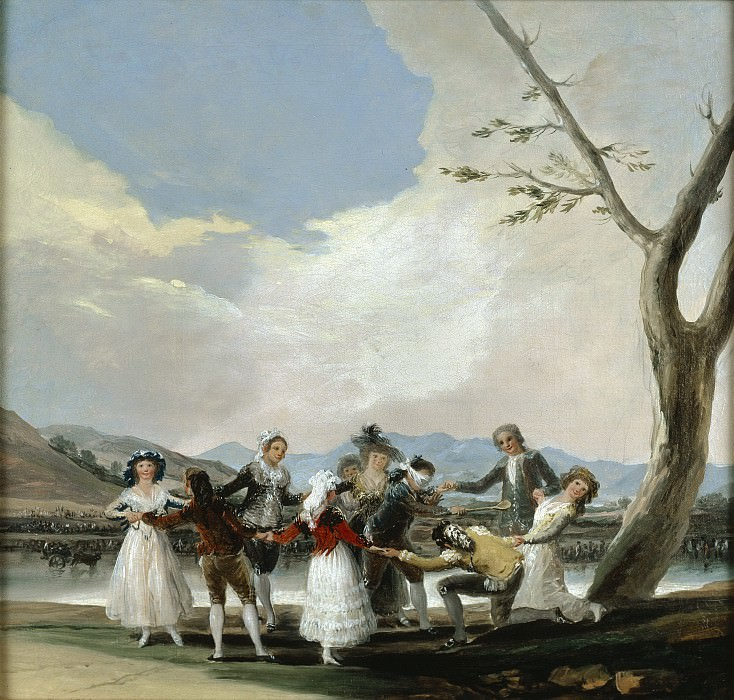 Goya y Lucientes, Francisco de -- La gallina ciega. Part 5 Prado Museum
