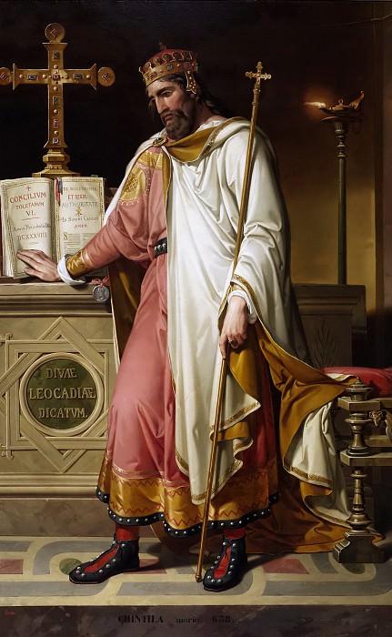 Монтаньес и Перес, Бернардино -- Кинтила, король вестготов. часть 5 Музей Прадо