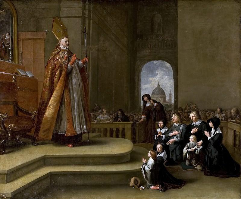 Breenbergh, Bartholomeus -- El obispo Rovenius bendiciendo a una familia (¿de Jacob van Wassenaer?). Part 5 Prado Museum