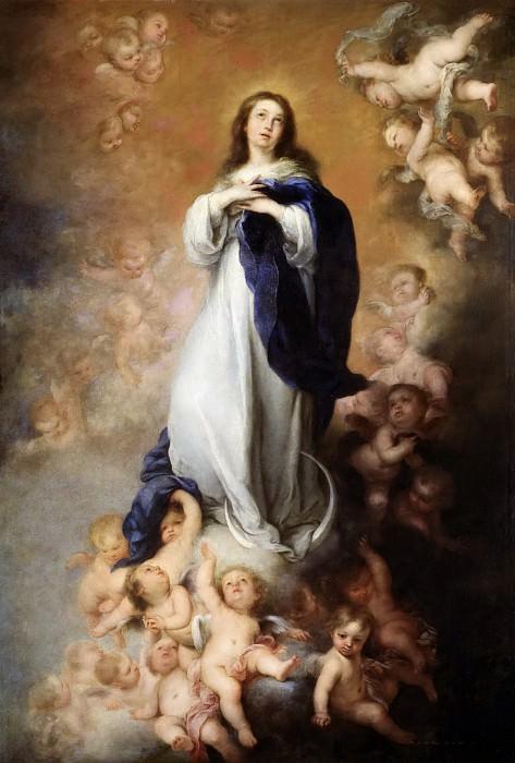 Murillo, Bartolomé Esteban -- La Inmaculada Concepción de los Venerables, o de Soult. Part 5 Prado Museum