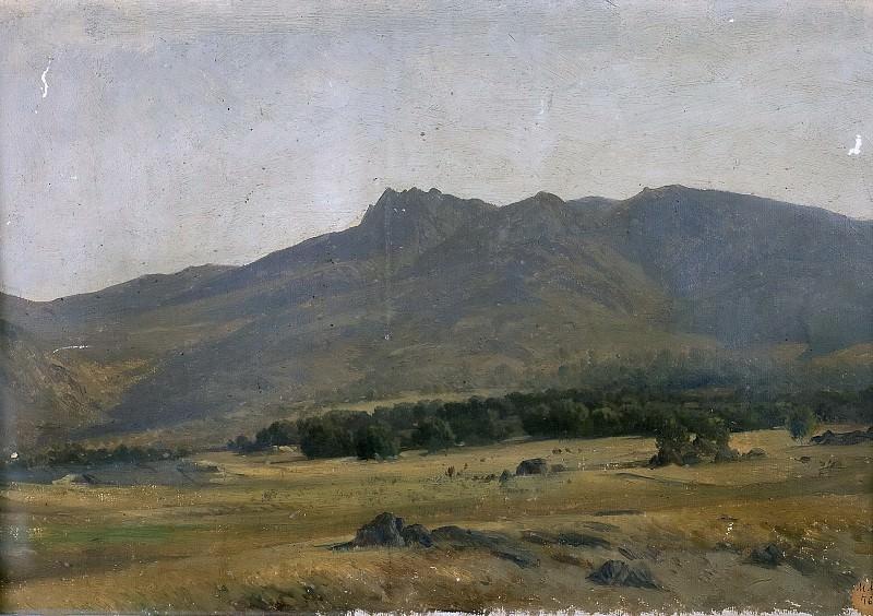 Haes, Carlos de -- Valle en la sierra del Guadarrama. Part 5 Prado Museum