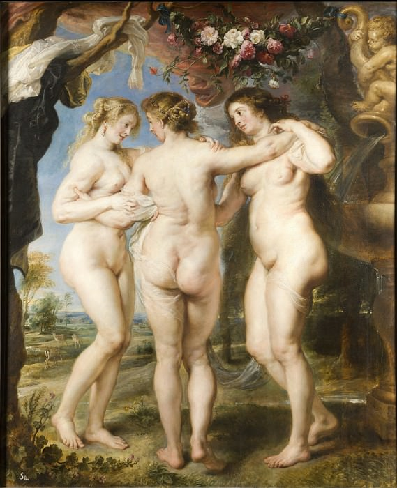 Rubens, Peter Paul - The Three Graces. Masterpieces of the Prado Museum