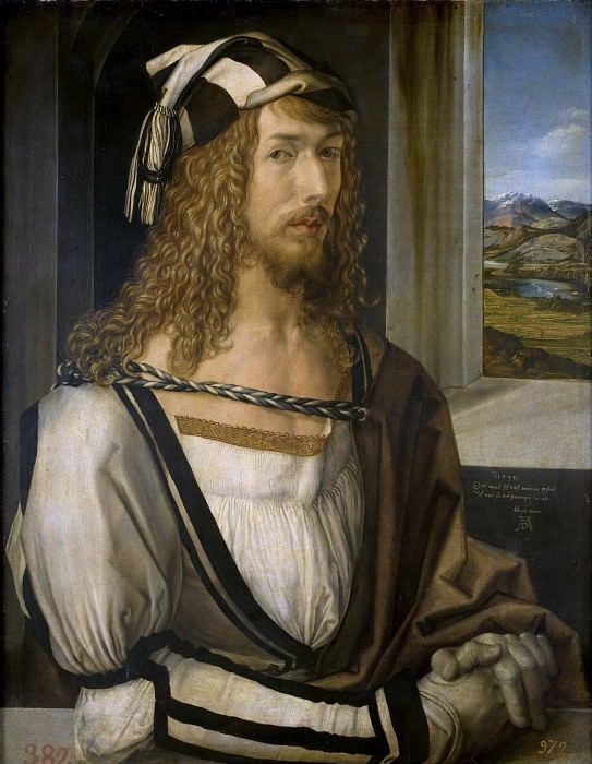 Durer, Albrecht - Self portrait. Masterpieces of the Prado Museum