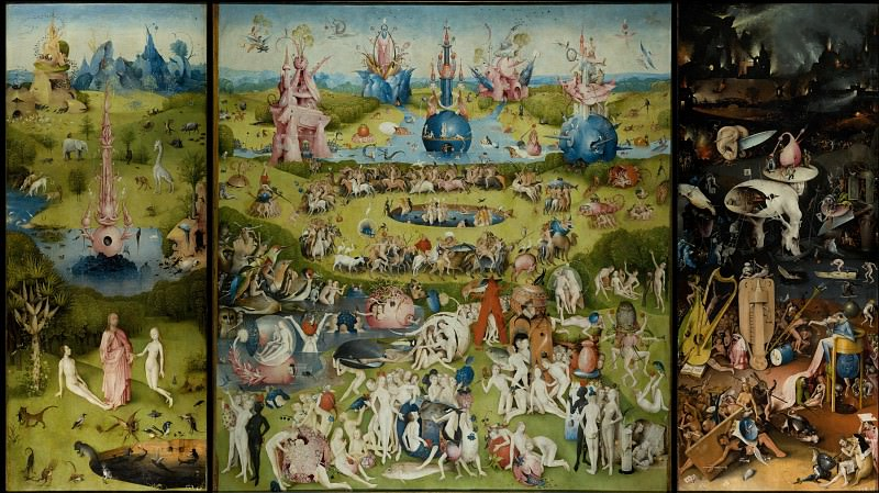 Bosch, Hieronymus - The Garden of Earthly Delights. Masterpieces of the Prado Museum