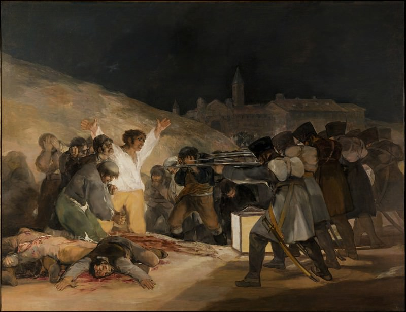 Goya y Lucientes, Francisco de - The 3rd of May 1808 in Madrid, the executions on Principe Pio Hill. Masterpieces of the Prado Museum