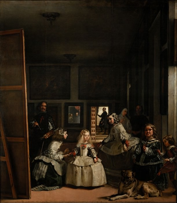 Velazquez, Diego Rodriguez de Silva y - The Family of Felipe IV, or Las Meninas. Masterpieces of the Prado Museum