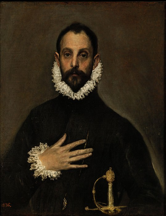 El Greco - The Nobleman with his Hand on his Chest. Masterpieces of the Prado Museum