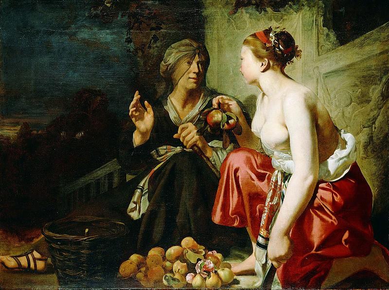 Эвердинген Сезар Бутиус ван (1617 Алькмар - 1678 Харлем) - Вертумн и Помона (104х140 см) ок1650. J. Paul Getty Museum