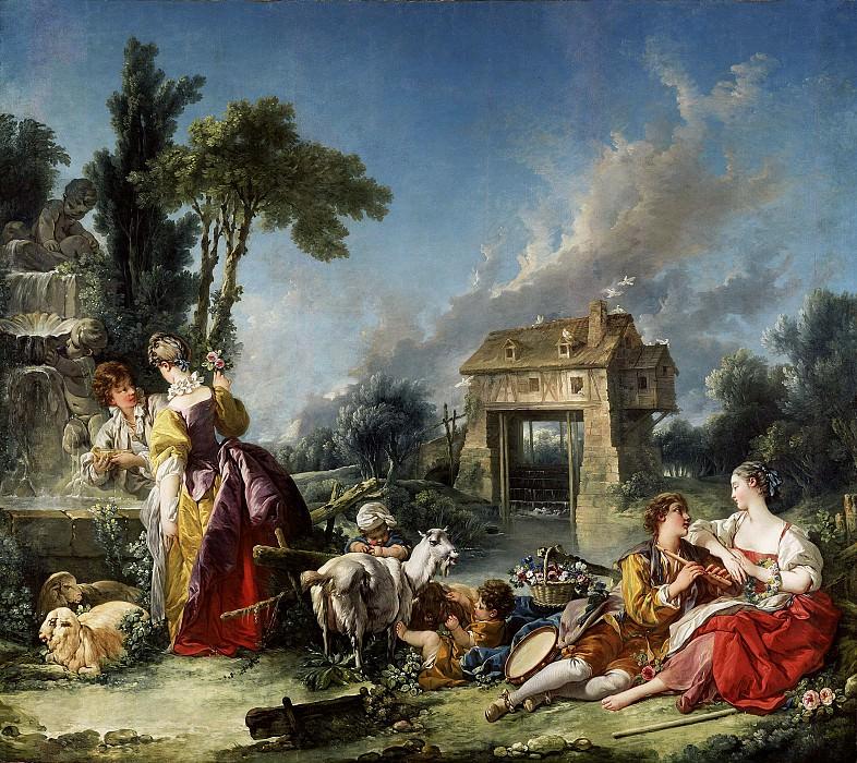 Буше Франсуа (Париж 1703-1770) - Фонтан любви (294х338 см) 1748. J. Paul Getty Museum