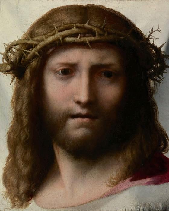 Корреджо (Антонио Аллегри) (Корреджо ок1490 - 1534) - Голова Христа (33х23 см) ок1530. J. Paul Getty Museum